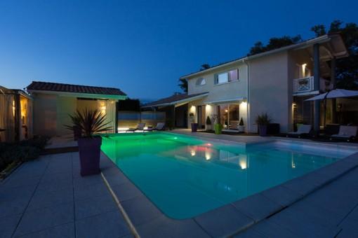 La Villa Aquitaine de nuit